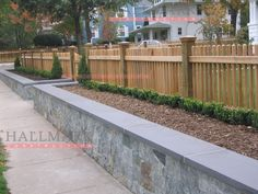 we have major retaining walls to put up in conjunction with fencing...this is a great idea!
