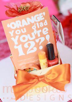 'Orange' you glad Birthday gift basket
