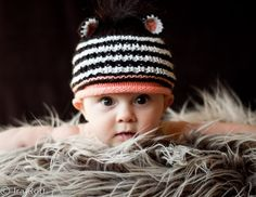 Handmade Crocheted Zebra Cub Animal Hat for Newborn to Kids sizes On Special for 15.00 CDN www.irarott.com Limited Quantities May 23- 31st 2013