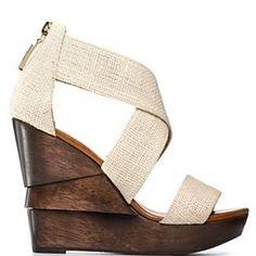 opal crisscross wedge sandals