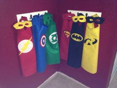 Superhero felt capes and masks  on Etsy, $15.00