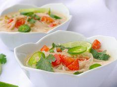 Thai Chicken Noodle soup...in the crock pot!