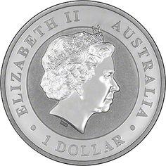 Australian Kookaburra Reverse. Available in 1 oz, 10 oz and 1 kilo versions.
