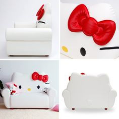 Hello Kitty love seat.. not going to lie i want this! chair, hello kitti, living rooms, kids rooms decor, kid rooms, little girl rooms, couches, hellokitti, hello kitty
