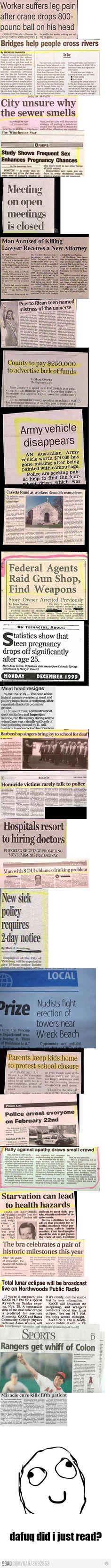 I love funny headlines.