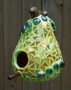 pear shaped bird house