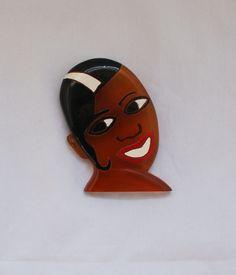 Josephine Baker Bakelite Pin