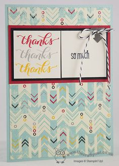 Thanks So Much Flashback DSP, Another Thank You, Clean and Simple, Joanne James Stampin' Up! UK Independent Demonstrator, blog.thecraftyowl.co.uk