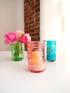 Colored Glass Mason Jars Four Spring DIY Projects to Try