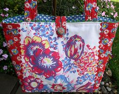 When your vintage tablecloth is too stained or torn to use, create a tote bag from the useful pieces. Upcycle/Recycle/Repurpose vintag tablecloth, tote bags, etsi bag, vintage tablecloths