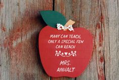 Many Can Teach Plaque (sorry, no link), Handmade Gifts for Teachers