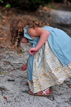Children's Clothing - Shabby Chic Girls Dress -  Sizes 12 months to 5 years. $56.00 USD, via Etsy.