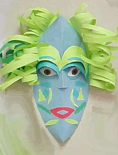 African Paper Mask    http://www.incredibleart.org/lessons/elem/papermask.htm