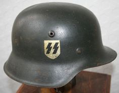 WW2 GERMAN M42 SS SINGLE DECAL HELMET | Militaria | WARSTUFF