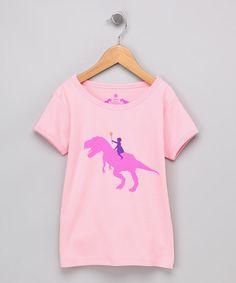 Look what I found on #zulily! Pink Dino Girl Tee - Toddler & Girls #zulilyfinds