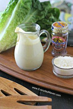Homemade Creamy Caesar Dressing from www.EverydayMaven.com