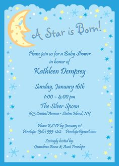 I love you to the moon and back invitation moon and stars for A star is born salon