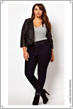 jeans grande taille femme ronde mode on pinterest jeans. Black Bedroom Furniture Sets. Home Design Ideas