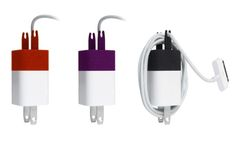 The Wrap is an accessory that attaches to the USB end of your iPhone charger, transforming it into a handy little cable winder for the charging cord.
