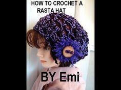 HOW TO CROCHET A RASTA HAT, snood, tam, beret.