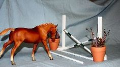 Collecting and handmaking realistic horse jumps and tack for model horses