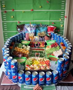 Amp Up Your Super Bowl Party With a DIY Snackadium (AKA Snack Stadium)! Looking for ideas for a super #football party? Check out this round up. From easy to intense, these impressive spreads of appetizers will seriously impress your guests. If you're thinking about how to build one, you need to see this.