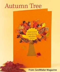 Autumn Tree from the Autumn 2014 issue of CardMaker Magazine. Order a digital copy here: http://www.anniescatalog.com/detail.html?code=AM5254