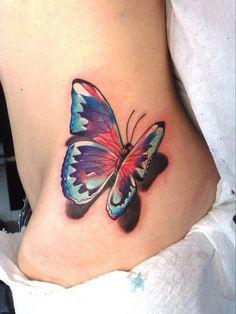 Cute butterfly tattoo.
