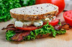 BELT (Bacon Egg Salad Lettuce Tomato) Sandwich
