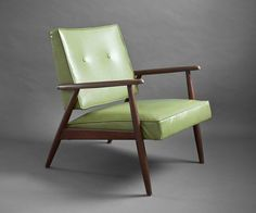 Mid Century Wood Lounge Chair  Modern Side Green Retro by Hindsvik, $325.00