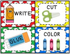 Color, Cut, Glue, Write Picture Clues for Young Kids- FREEBIE!!!
