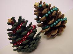 mini christmas tree pine cones!