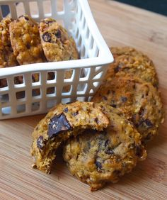 Pumpkin Oatmeal Cookies with Dark Chocolate