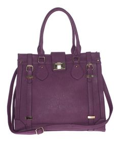 Orchid Double Buckle Tote by Segolene Paris #zulilyfinds