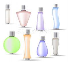 Stock photo: Set of fragrance bottles isolated