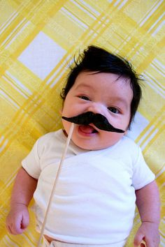 Awesome baby mustache!