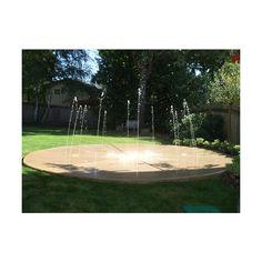 Wet Deck Splash Pad Backyard Fountain Deck