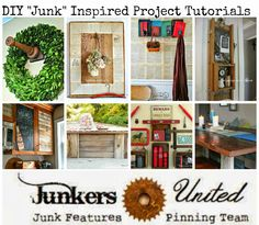 The best junk-inspired projects in the world!  8 featured project tutorials PLUS over 200 more junk inspiration links to inspire you!  ~~via Knick of Time @ knickoftimeinteriors.blogspot.com