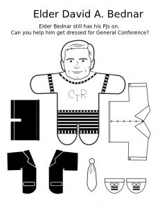 Conference activity pages -- one for each apostle