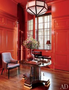 18 Red Rooms for Design Inspiration / AD