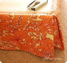 How to make a bedskirt!!