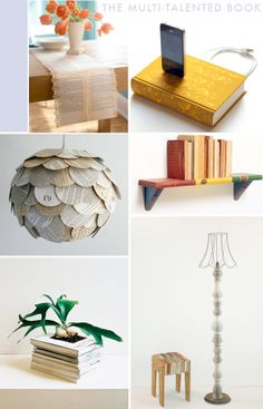 repurposed books and book pages