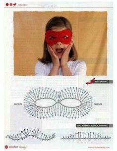 stitch chart, crochet mask, kid