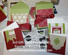 Stampin' UP! Pop And Place Tags 3×3 Box