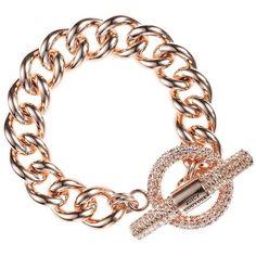 Pave Toggle Bracelet ($78) ❤ liked on Polyvore