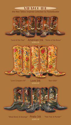 Rocketbuster Boots vintage