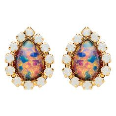 Middleton Earrings Fire Glass, $57, now featured on Fab.