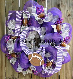 Wild & Crazy About TCU Wreath by JustSimplyaDoorable on Etsy, $60.00