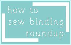 Quilt binding tutorial roundup