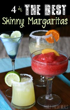 A Spring Necessity ! The Best Skinny Margarita Recipes. Easy, low calorie, these are PERFECT !!
